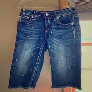Miss Me, Size 29, denim Bermuda shorts
